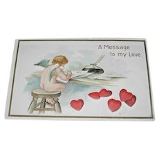 Cupid, Hearts and Love Notes Valentine's Day Postcard