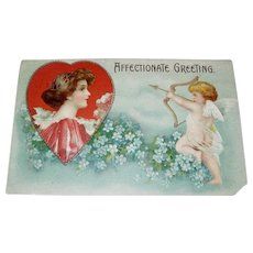 Affectionate Greeting Valentine's Day Postcard