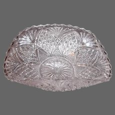 Pineapple Design Rolled Rim Edged-Banana Boat Style Candy Dish