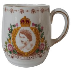 Queen Elizabeth II Coronation Mug 1953 Bone China
