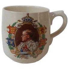 Royal Doulton Commemorative Mug Edward VIII Coronation 1937