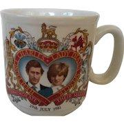 Prince Charles and Diana's Wedding Commemorative China Mug