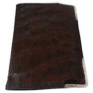 Hallmarked Sterling Silver Crocodile Men's Wallet 1923