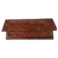 Vintage Burled Wood Desktop Box