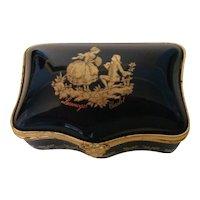 Limoges Castel 22 K Gold Fragonard Box