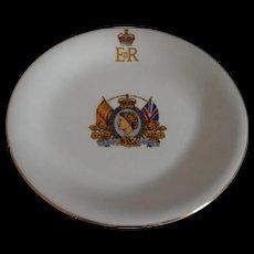 Queen Elizabeth II Coronation Plate 1953 Johnson Brothers