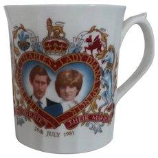 Princess Diana Commemorative Wedding Mug
