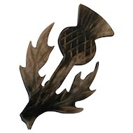 Scottish Hand Carved Thistle Pin