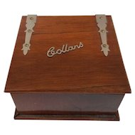English Wooden Collar Box with Brass Hinges