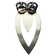 Sterling silver Greek Mask Bookmark
