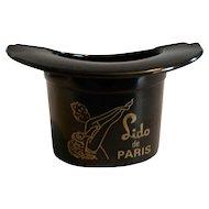 Bakelite Lido de Paris Top Hat Ashtray