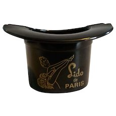 Bakelite Lido de Paris Top Hat Ashtray