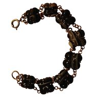 Vintage Agate Bracelet with Vermeil setting