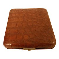 Vintage English Crocodile Case