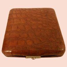 Vintage English Crocodile Case