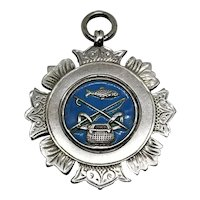 Sterling Silver and Enamel Watch Fob 1921