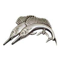 Vintage Sterling Silver Swordfish Pin