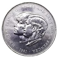 Prince Charles and Diana Wedding Commemorative Coin 1981