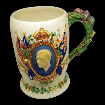 Crown Devon Royal Mug Commemorating Edward VIII Coronation