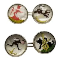 Sterling Silver Nursery Rhyme Cufflinks 1994