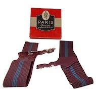 Paris garter box w/ men's garters