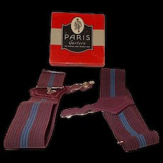 Paris garter box w/ men's garters