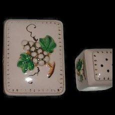 Japan Decorative box w/ salt pepper Shakers