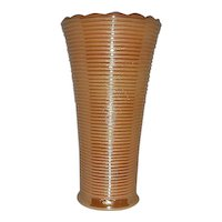 Peach lustre ringed vase  Anchor Hocking-Fire King