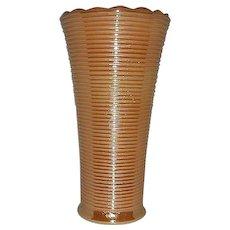 Peach lustre ringed vase  Anchor Hocking-Fire King