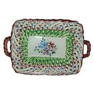 Goodfriend Spain pottery rope open weave basket
