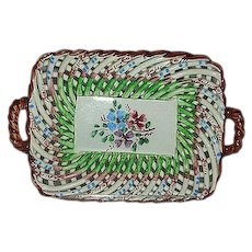 Goodfriend Spain pottery rope open weave basket