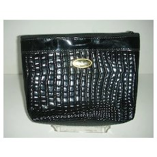 Black Patent leather clutch purse
