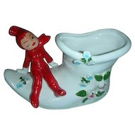 Japan red pixie elf shoe planter