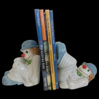 Clown Fitz & Floyd Porcelain 1079 Bookends