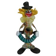 Murano Art Glass  Accordion Clown Hand Blown Figurine