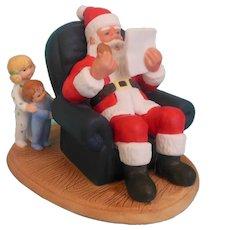 Santa Christmas Visitor figurine Heritage House 1987
