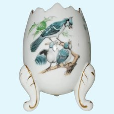 Large ARCO Porcelain blue jay  Made in Japan egg cup