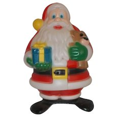 Vintage   Christmas Santa w/ gift & Teddy Bear Blow Mold