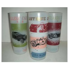 Classic  Frosted old time autos  car glasses