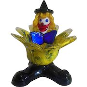 Murano  colorful glass clown dish