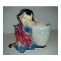 Oriental child Royal Copley Pottery planter