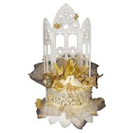 Wilton Golden Anniversary cake topper   marked Hong Kong