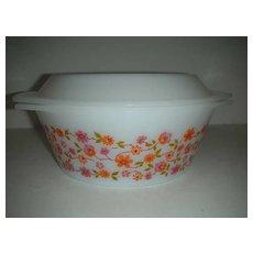 Flowered orange and rose  casserole