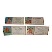 Four 1950  Lawson Wood illustrated monkey humor blotters