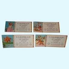 Four 1950  Lawson Wood illustrated monkey humor blotters