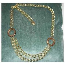 Vintage Chain looped belt