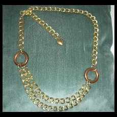 Vintage Chain looped belt