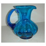 Cobalt Blue Hand blown Pitcher