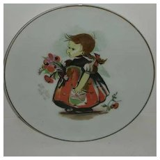 Pigtail Girl  w/ sealed letter plate