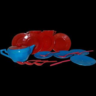 Tea time plastic Plastco toy doll dishes